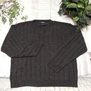 Jantzen Vintage Long Sleeve Soft V-Neck Sweater XL